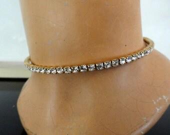 Vintage Diamond Choker - Costume Jewelry - Slips on