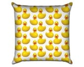 """Rubber Ducky - Original Pattern Sofa Throw Pillow Envelope Cover for 18"""" inserts"""