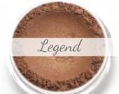 "Eyeshadow Sample - ""Legend"" - deep bronze brown with shimmer (Vegan) Mineral Makeup Eye Color Pigment"