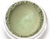 """Mossy Gray with Green Shimmer Eyeshadow - """"Elvish"""" - Vegan Mineral Eyeshadow Net Wt 2g Mineral Makeup Eye Color Pigment"""