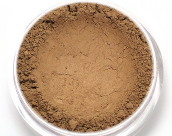 "Matte Brown Contour Powder - ""Cove"" (4.5g Net wt) - Vegan Matte Mineral Contouring Bronzer for medium to deep skin"