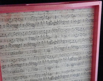 Music inspired pink tray