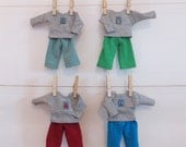 """Cotton beetle bug outfits for 7"""" dolls"""