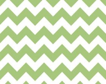 In stock now-Medium Chevron Cotton- Green by Riley Blake
