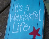 It's a wonderful life wood sign porch sign