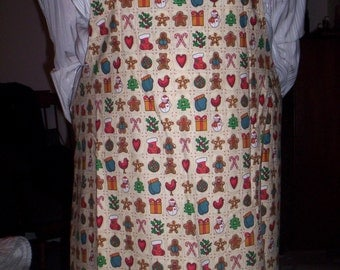 Christmas Adult Apron with Free Matching Pot Holder