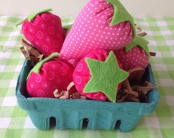 Farmers Market Play Strawberries Basket, Strawberries, Toys, Children, Kids