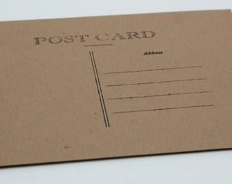 Blank Postcards - Kraft Paper - set of 20