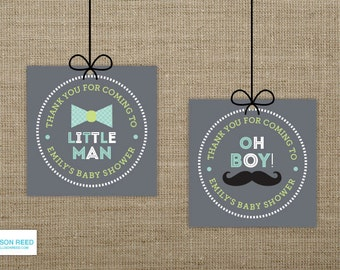 Little Man Baby Shower Printable - Mustache Printable - Little Man Favor Tag - Mustache baby shower - Bowtie printable - 1st birthday