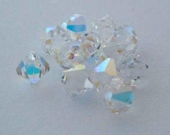 SWAROVSKI 6301 Top Drilled Bicone Pendant Crystal AB SPARKLE