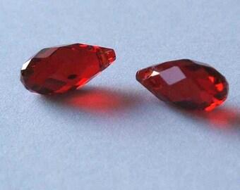 2 SWAROVSKI 6010 Briolette Crystal Beads SIAM