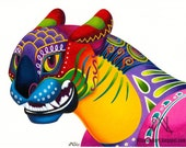 Oaxacan Big Cat Mini-Bust