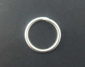 100pcs 9mm Silver Plated Jump Ring - 16 Gauge, 16 g, Jewelry Finding, Jewelry Making Supplies, Necklace, Bracelet, DIY, Ships from USA -JR45
