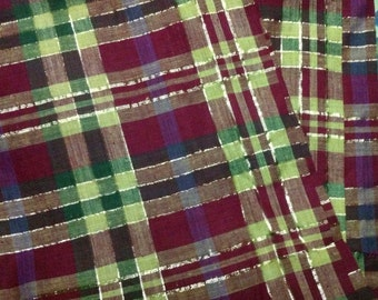 Beautiful  Madras Fabric