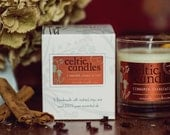 Christmas candle - Cinnamon, Orange & Clove - Soya Wax and Pure Essential Oils