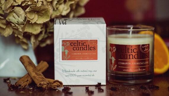 Christmas candle - Cinnamon, Orange & Clove - Soya Wax and Pure Essential Oils