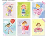 Girly Girl wall cards