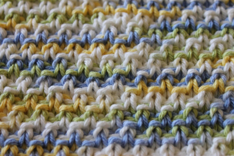 Knit Pattern Moss Stitch Dishcloth Instant Download