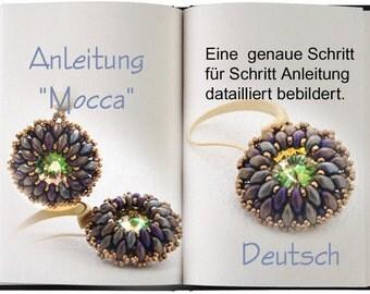 Jewelry tutorial .... Mocca...Anleitung in Deutsch. Ohrringe romantisch zeitlos.
