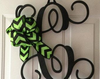 Monogram wooden letter door hanger single letter
