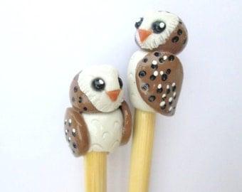 Barn Owl Knitting needles- size 11