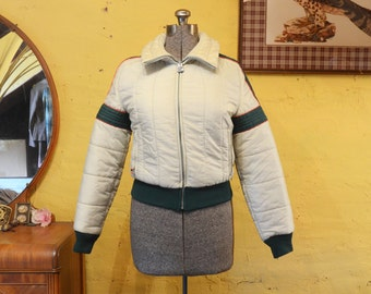 Cool Roffe Ski Jacket Puffer Stripes S