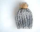 DIY Crochet Pattern: Snow Cap Hat, 4 sizes baby through adult, Chunky knit look pom pom hat, InstAnT DowNLoaD, Permission to Sell