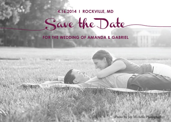 Save the Date - custom photo ~ Printed with envelopes included