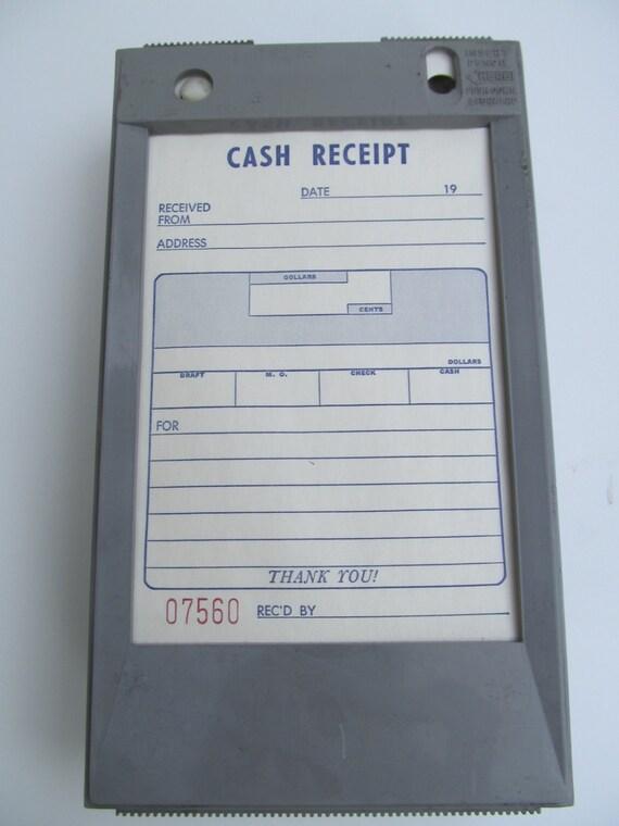 vintage 1970 carbon copy cash receipt holder