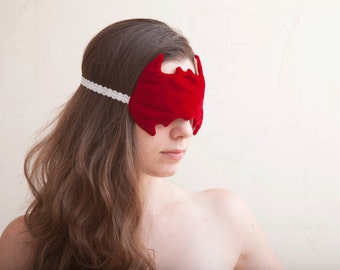 Batman Sleep Mask, Red, gift for her