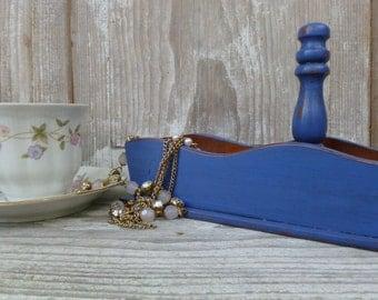 Blue-Violet Decorative Wood Tray