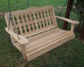 5 Foot Victorian Cypress Porch Swing