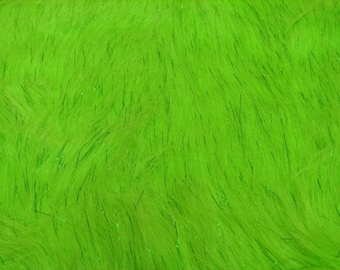 Third Yard Green Sparkle Fur Shag