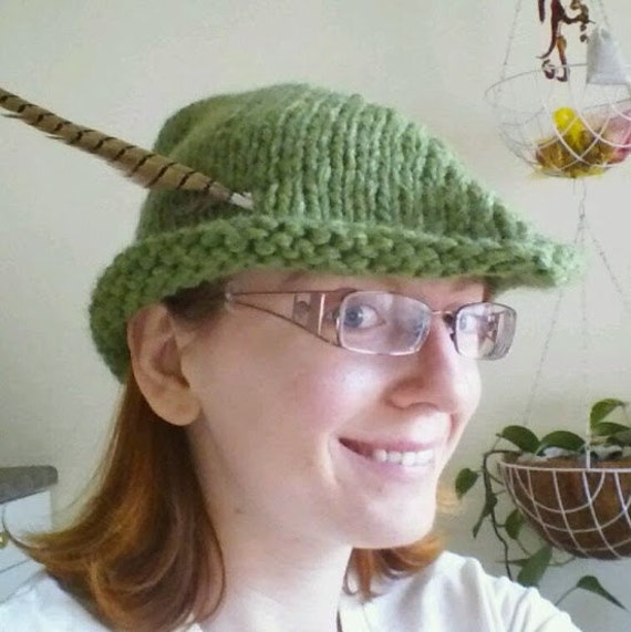 Knitting Pattern For Robin Hood Hat : PATTERN: Robin Hood/Peter Pan Hat Adult