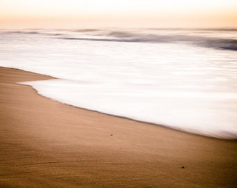 Beach Photography - Fine Art Photography - Modern Ocean Wall Art - South Africa Sunrise Surreal Color Photography