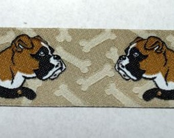 Jacquard Ribbon boxer dog