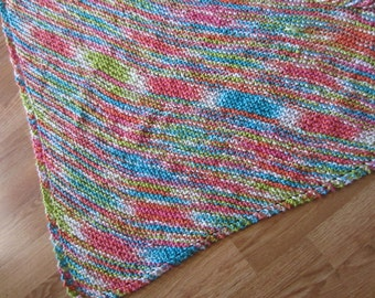 Bright Colors Knit Baby Blanket