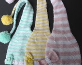 Elf stripes -  CHILDREN HAT - Baby Boy and Girl - Hand Knit  New Item