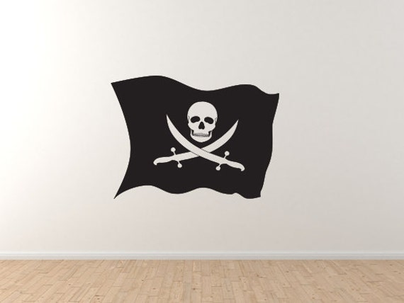 Swashbuckler Silhouette Pirate Jolly Roger Flag Buccaneer