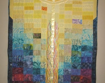 Jacob's Ladder quilt wall hanging no. 2