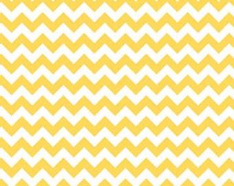 Riley Blake Fabric - 1 Fat Quarter Small Chevron in Yellow