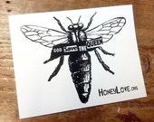 """HoneyLove.org """"God Save The Queen"""" Sticker"""