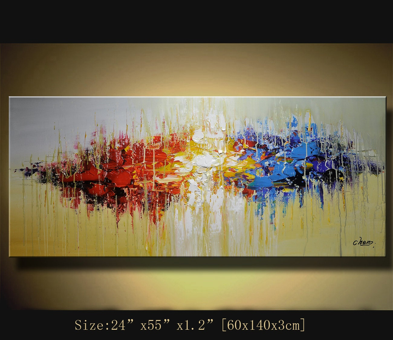 Original acrylic abstract painting abstract paintings modern for Modern abstract paintings for sale