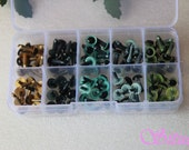 Kit of 9mm Color  and CAT Safety Eyes for needle felting-totally 50 pairs