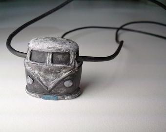 concrete jewelry bus vw urban fossil jewelry necklace pendant