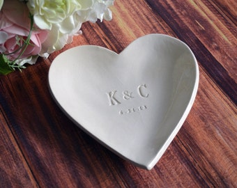 Large Personalized Heart Bowl - Wedding Gift or Anniversary Gift - Gift Boxed and Ready to Give