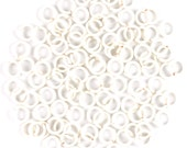 20ga 3.5mm White 30 rings Handmade Jump Rings