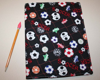 Spiral Notebook Cover - Soccer