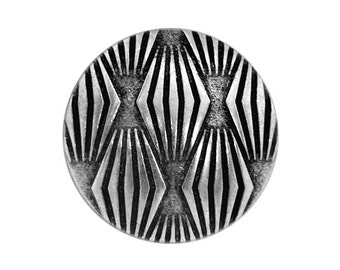 2 Moguls 3/4 inch ( 20 mm ) Metal Buttons Antique Silver Color