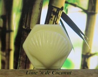 Lime 'n de Coconut Organic Solid Lotion Bar 100% Natural Large 4 oz.